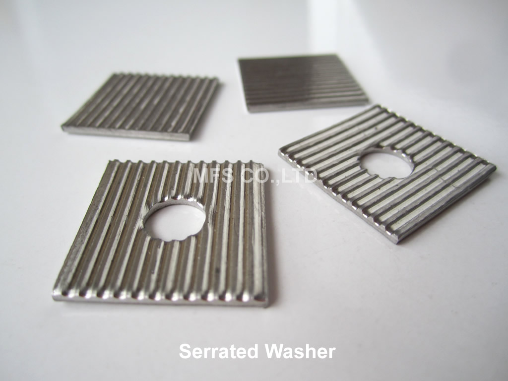 Square Serrated Washer